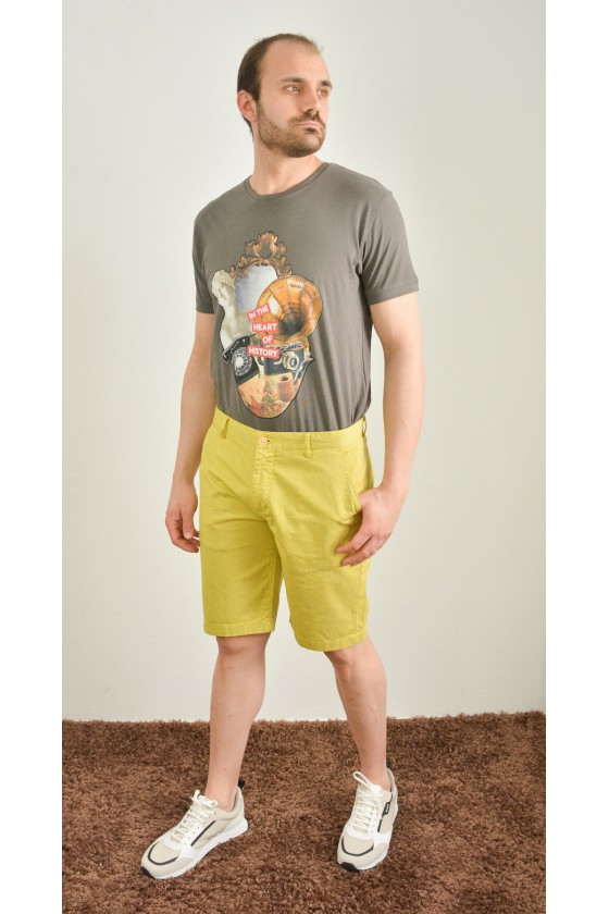 RECYCLED CHINO SHORT AOP4