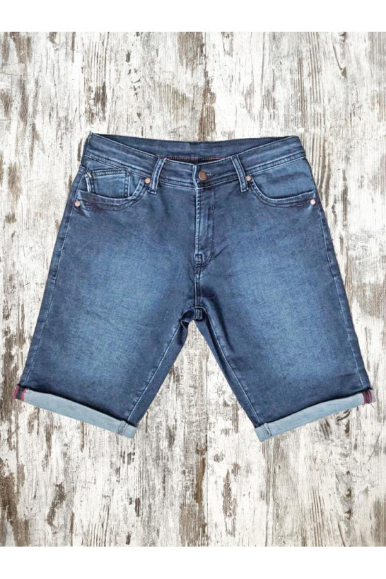 RECYCLED KNITTED DENIM SHORTS DAZZLING BLUE